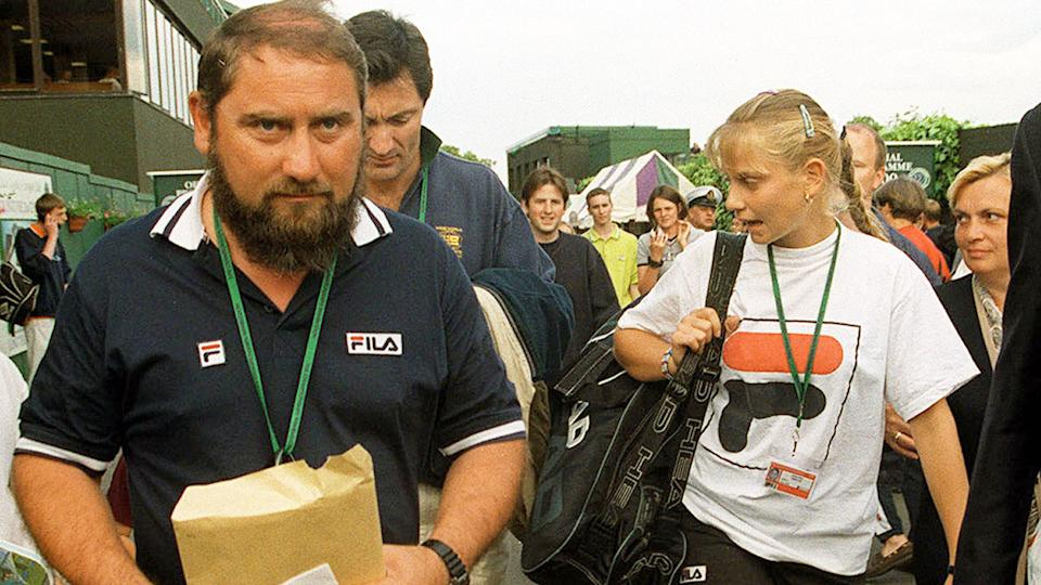 Seen here, Jelena Dokic with her father and former coach Damir at the 2000 Wimbledon tournament.