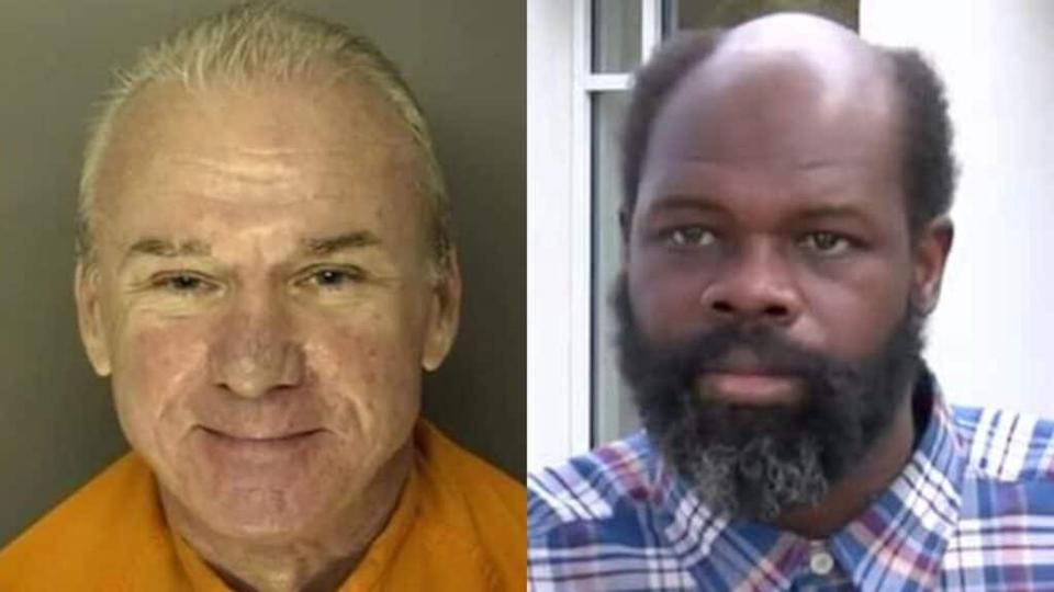 Bobby Paul Edwards (left) is currently serving a 10-year prison sentence for enslaving John Christopher Smith (right) from 2009 to 2014 at a South Carolina restaurant. (Photos by Horry County Jail and WPDE)