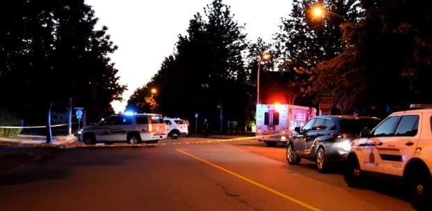 Richmond RCMP says they received reports of two victims suffering gunshot wounds in the area of Westminster Highway and Barnard Drive at about 8:40 p.m. on June 25, 2021. (Ryan Stetling - image credit)