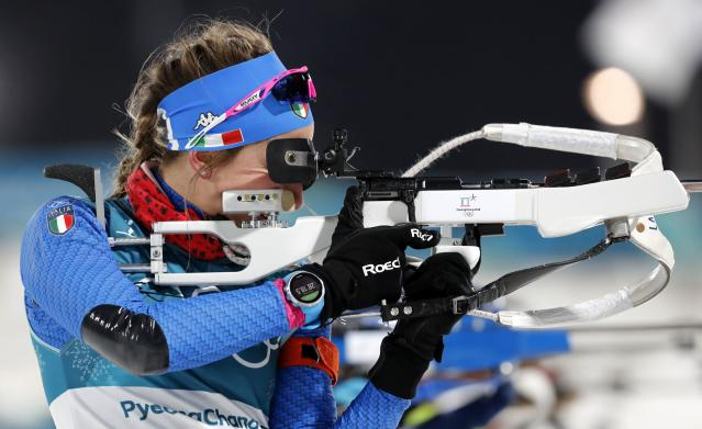 Italy's Lisa Vittozzi competes in a biathlon even in PyeongChang. (Reuters)