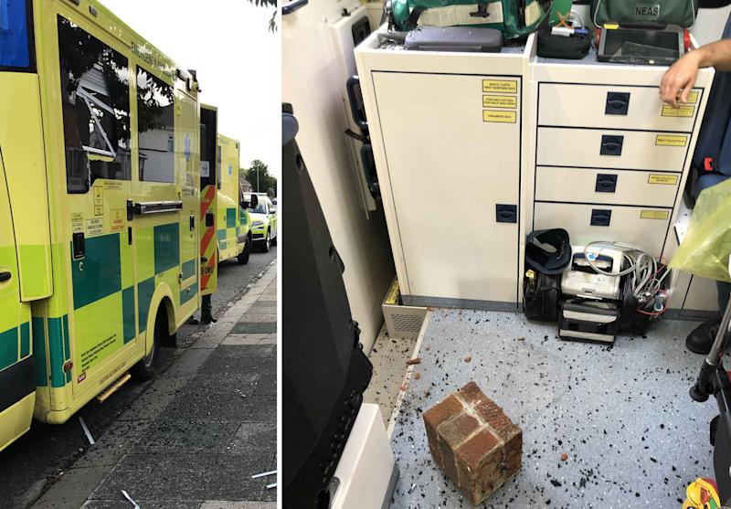Two ambulance staff were taken to hospital after three alleged attacks in the North East at the weekend (NEAS)