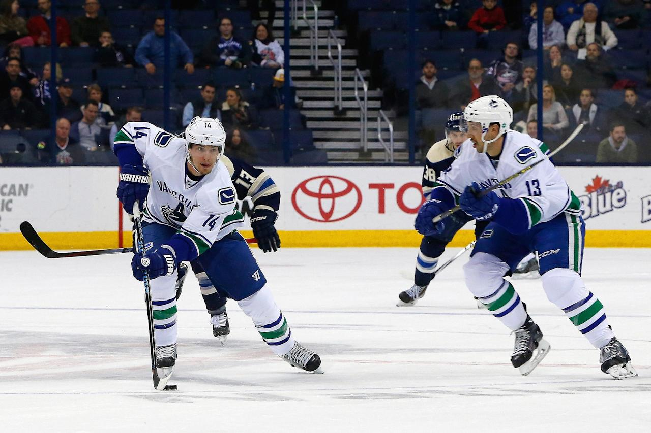Alex Burrows takes a skate to the face against Detroit (Video)