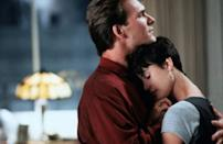 The scene where Molly Jensen kisses Sam Wheat in 'Ghost' is iconic. But it's technically, Molly kissing the character Oda Mae, who is channelling Molly's dead boyfriend Sam. Goldberg won an Oscar for her role in 1990's Ghost. She plays a psychic 'Oda Mae Brown' who helps the banker 'Sam Wheat', played by Patrick Swayze, after his murder, when he becomes a spirit wandering the earth. It became the year's highest-grossing film and Goldberg was nominated for an Oscar.