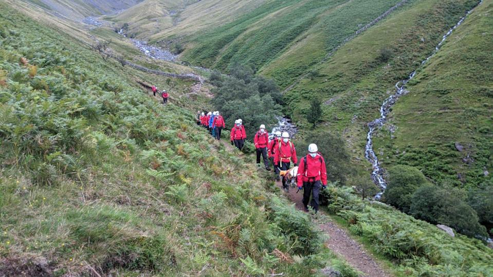 """Wasdale Mountain Rescue Team described Daisy as the """"perfect casualty"""" and she was in high spirits the day after the successful rescue. Source: Facebook/Wasdale Mountain Rescue Team"""