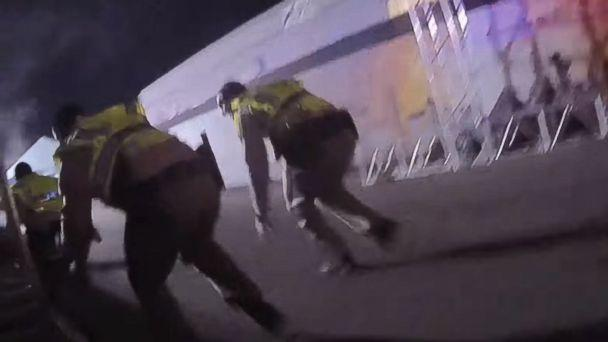 PHOTO: Police in Las Vegas on Oct. 3, 2017 released police body camera footage showing the chaos amidst the Las Vegas mass shooting on Oct. 1, 2017. (Las Vegas Metropolitan Police/EPA)