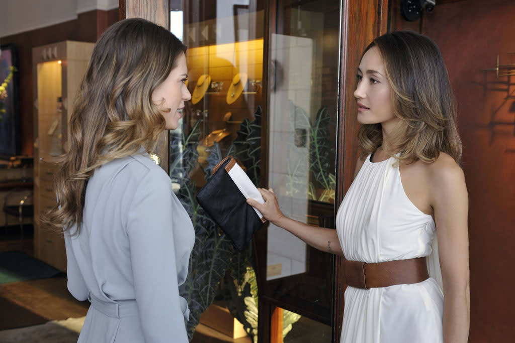 "Lyndsy Fonseca as Alex and Maggie Q as Nikita in the ""Nikita"" Season 3 episode, ""Innocence."""