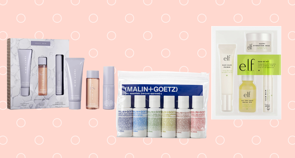 These travel-sized beauty kits work just as well at home as on the go.