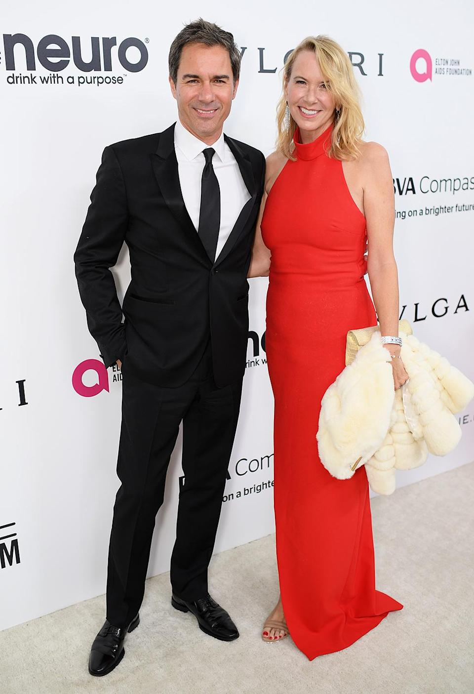 <p>Actor Eric McCormack and Janet Holden attend the 25th Annual Elton John AIDS Foundation's Academy Awards Viewing Party at The City of West Hollywood Park on February 26, 2017 in West Hollywood, California. (Photo by Dimitrios Kambouris/Getty Images for EJAF) </p>