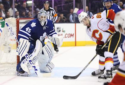 The Leafs are giving up a lot of shots and have relied on Jonathan Bernier to bail them out. (USA Today)