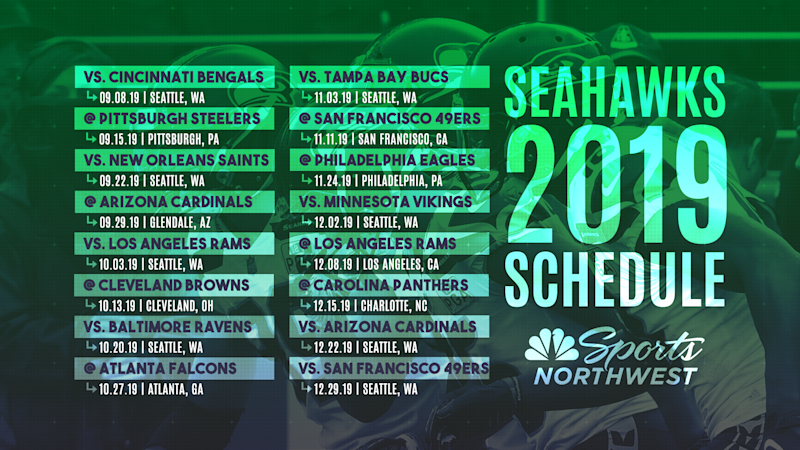 2020 Seattle Seahawks Schedule The 2019 Seattle Seahawks regular season schedule is here!