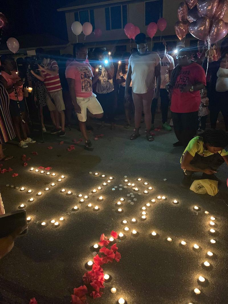 Candelight vigil held for Bee Love Slater on Sept. 6