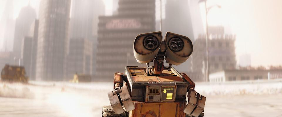 <em>WALL-E</em> follows a robot in the year 2805, where Earth has turned into a garbage-ridden wasteland. That doesn't necessarily sound like the plot to an upbeat animated movie, but somehow it works. Once WALL-E teams up with another robot, EVE, their quest turns into a story of exploration and love.