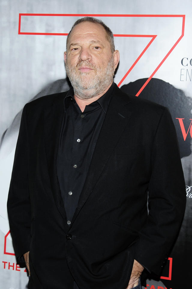 "<p>Women at the Weinstein Company and Miramax were allegedly subjected to Weinstein — the head of those companies and one of the most powerful men in Hollywood — holding meetings in his bathrobe (or less) and explicitly offering to help women in their careers if they would have sex with him, according to a report in the <i>New York Times</i>. Weinstein paid out settlements to at least eight women over three decades to hide the allegations but has now <a rel=""nofollow"" href=""https://www.yahoo.com/entertainment/harvey-weinstein-sexual-harassment-report-reveals-multiple-settlements-incident-ashley-judd-232550265.html"">offered an apology</a>. The mogul announced that he is attending therapy and taking a leave from his company. (Photo: Paul Bruinooge/Getty Images) </p>"