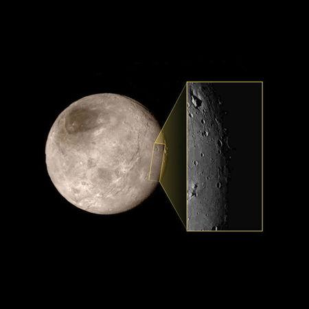 Pluto's largest moon Charon is shown in this NASA handout image, taken on July 14, 2015. (Reuters)