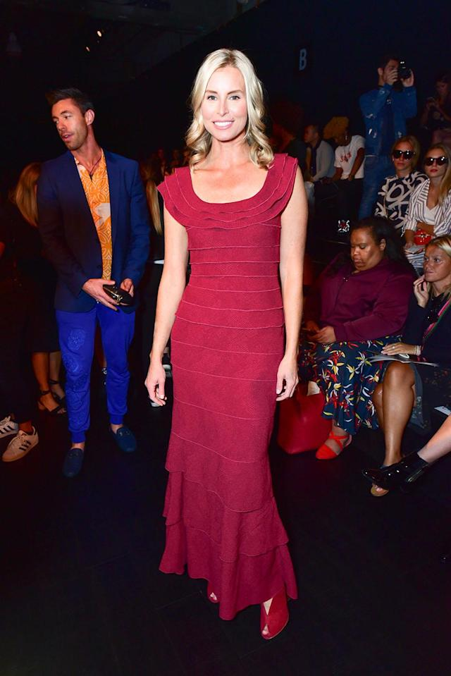 <p>Niki Taylor attends Tadashi Shoji show at New York Fashion Week on September 7, 2017 in New York City. (Photo by Sean Zanni/Patrick McMullan via Getty Images) </p>