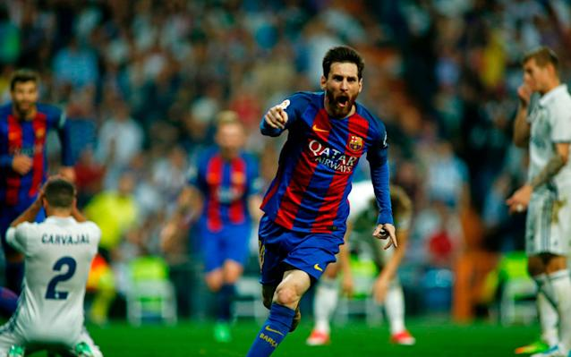 <span>Messi has scored more goals at the Bernabeu than any other away ground</span> <span>Credit: AFP </span>