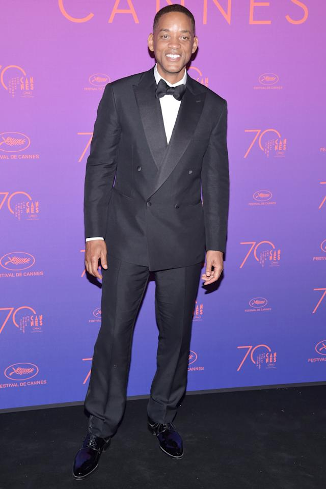 <p>Opening night at the Cannes Film Festival demands a tuxedo with some swagger—a.k.a. Smith's double-breasted peak lapel situation.</p>
