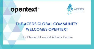 ACEDS Announces OpenText Discovery as Newest Premier Diamond Level Affiliate Partner