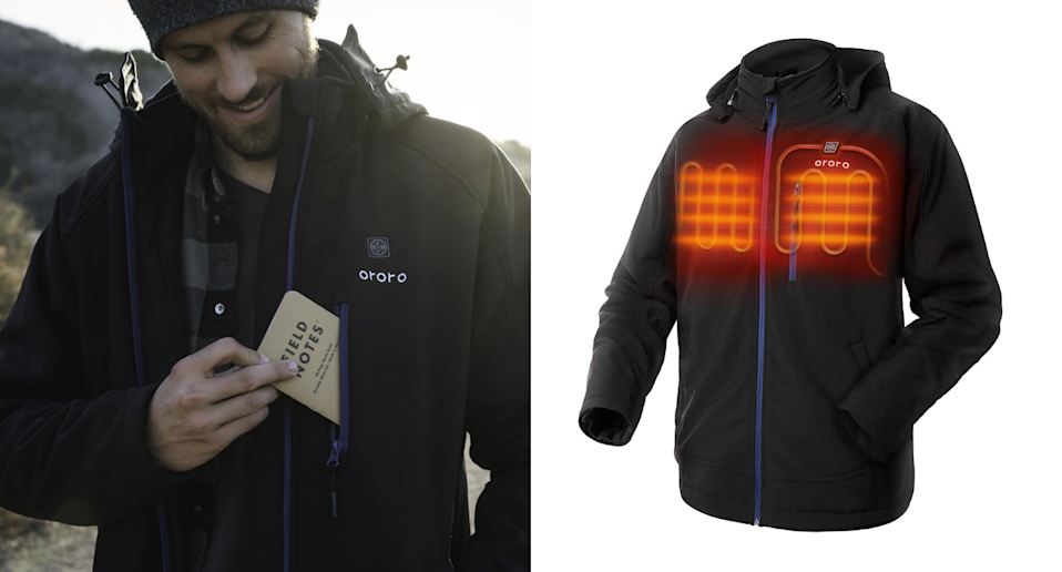 This top-rated heated jacket is on sale now on Amazon Canada. Image via Ororo, Amazon.