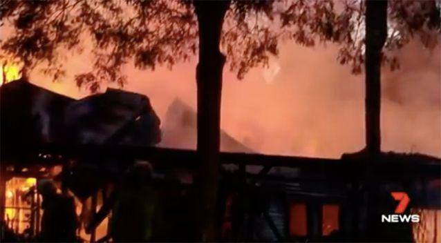 Fire ripped through the property. Source: 7 News