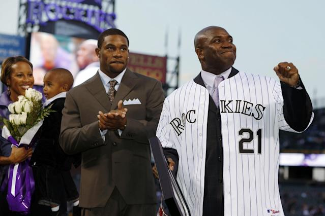 A 43rd-round draft pick out of Rutgers, Eric Young played 15 seasons in the big leagues. (AP Images)