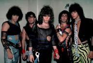 <p>Bon Jovi backstage before a performance at the Rosemont Horizon in Rosemont, Illinois on May 20, 1984. </p>