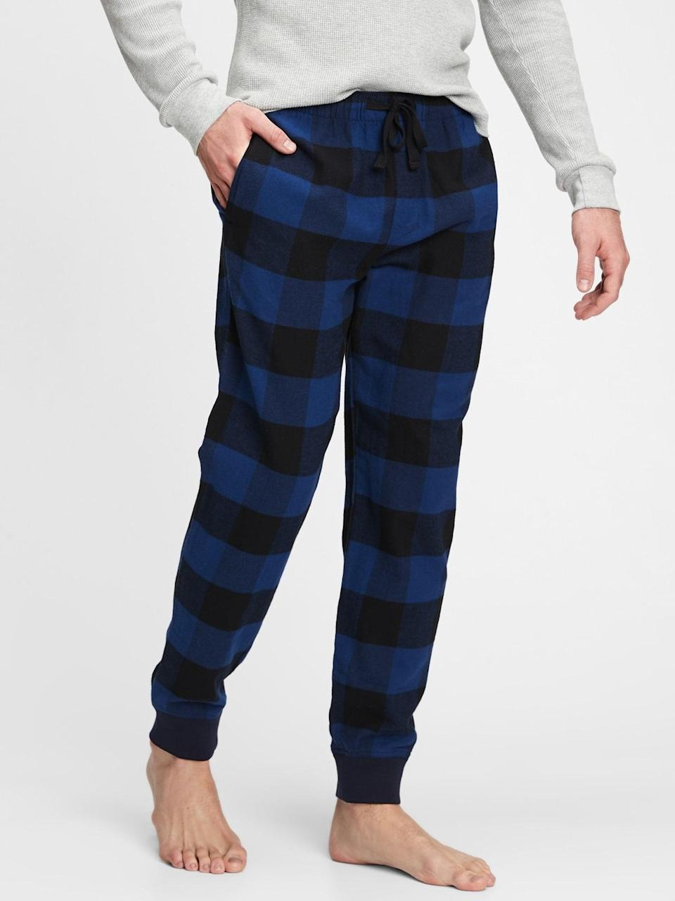 <p>These <span>Gap Flannel Joggers</span> ($31, originally $40) are the perfect loungewear that you can wear to run errands as well!</p>