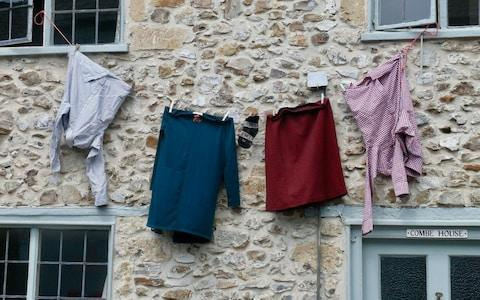Neighbours began hanging their washing out in public in support of Ms Mountjoy - Credit: Alison Stenning