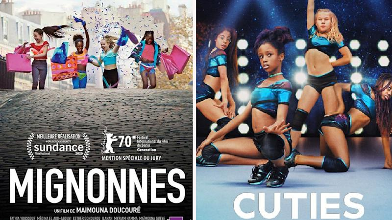 Netflix and French posters for Mignonnes/ Cuties