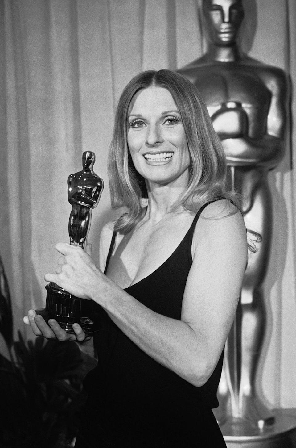 "<p>In 1972, she won her sole Oscar for Best Supporting Actress in <em>The Last Picture Show. </em>In a 2008 chat with PEOPLE, she called it ""one of the best pictures ever made."" </p>"