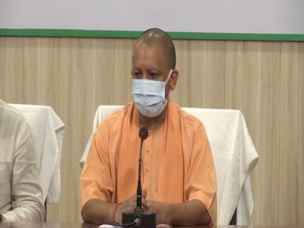 Uttar Pradesh Chief Minister addressing a  press conference in Lucknow on Saturday. [Photo/ANI]