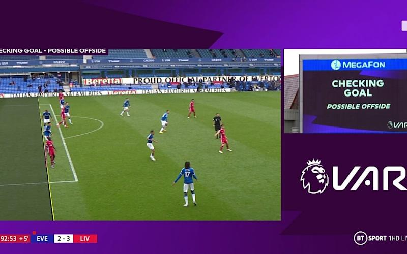 Liverpool are furious at the VAR offside call - BT SPORT