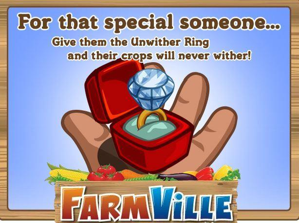 farmville unwither ring -- the worst thing to happen to virtual farming?