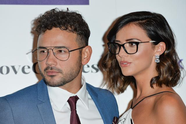 LONDON, ENGLAND - OCTOBER 24: Ryan Thomas and Lucy Mecklenburgh attend the Specsavers 'Spectacle Wearer Of The Year' at 8 Northumberland Avenue on October 24, 2018 in London, United Kingdom. (Photo by Jeff Spicer/Getty Images)