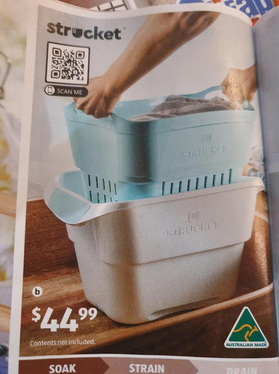 Strucket in the Aldi Special Buys catalogue