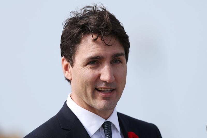 Canadian Prime Minister Justin Trudeau, pictured in April 2017, delivered a speech to honor Montreal's 375th anniversary (AFP Photo/CHARLY TRIBALLEAU)