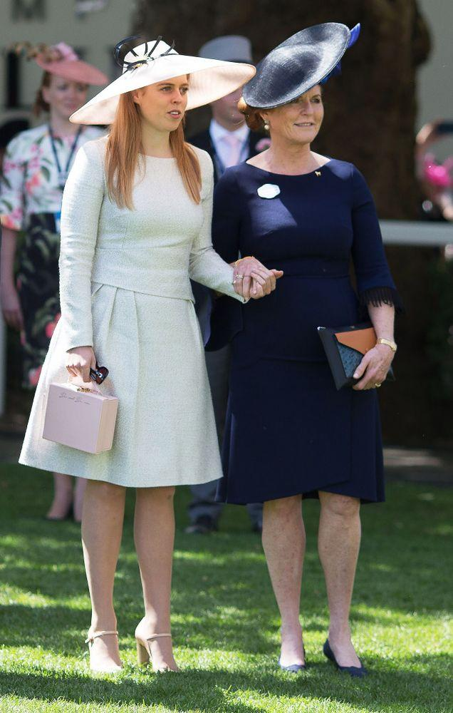 Princess Beatrice and Sarah Ferguson at Royal Ascot on June 22, 2018.