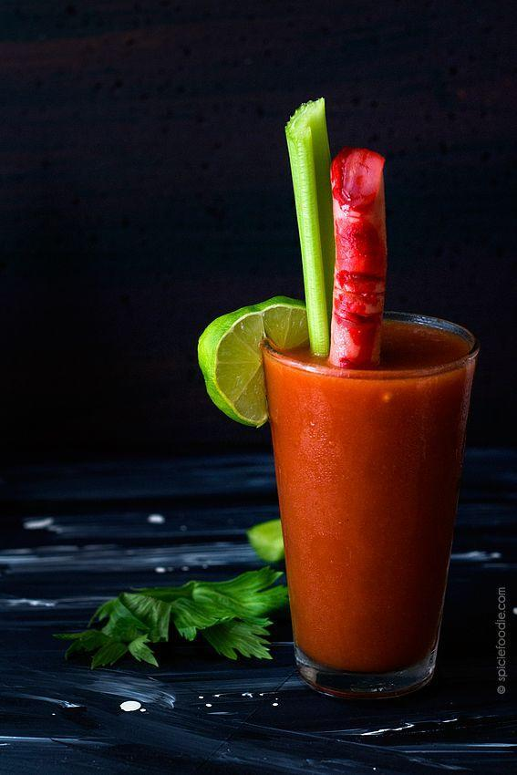 "<p>Emphasis on the <em>bloody</em>.</p><p><em><a href=""http://www.spiciefoodie.com/2014/10/27/bloody-mary-with-marys-severed-fingers-for-a-spooky-halloween-party/"" rel=""nofollow noopener"" target=""_blank"" data-ylk=""slk:Get the recipe from Spicie Foodie »"" class=""link rapid-noclick-resp"">Get the recipe from Spicie Foodie »</a></em> </p>"