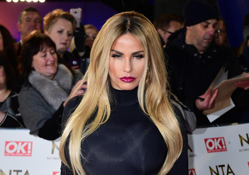 Katie Price (Credit Ian West/PA Wire)
