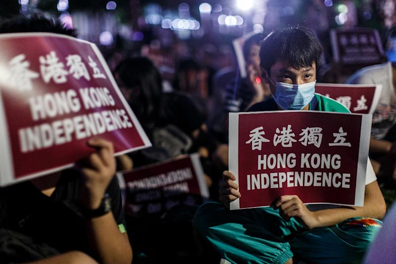 A vote for members of the Legislative Council, Hong Kong's lawmaking body, is the most important poll since major pro-democracy rallies brought parts of the city to a standstill in 2014, calling for political reforms (AFP Photo/Anthony Wallace)
