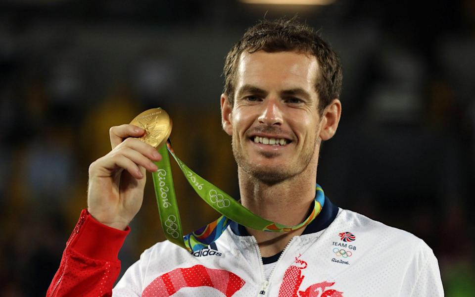Andy Murray with his gold medal following victory in Rio. - PA