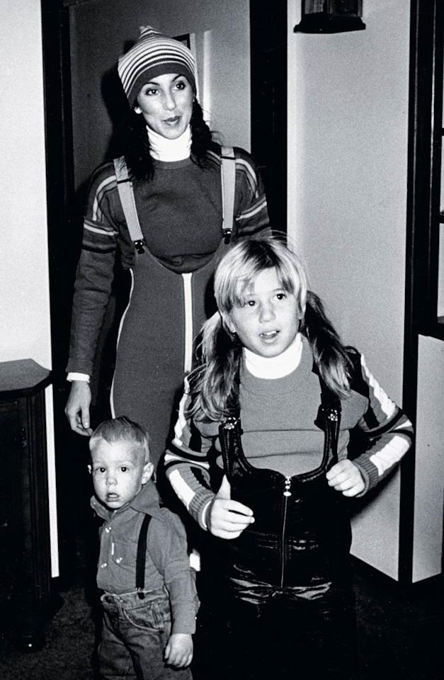 "<b>1977:</b> Cher at her house in Aspen -- she and her kids were avid skiers. ""I remember this day. We are in the chalet because I locked the keys in the car. Cute outfit -- everything was red, white, and blue for me then."" Ski clothes, she says, are like golf wear. ""You wear horrible colors all together. You think, What happens on the golf course doesn't happen in the rest of the world.""   <a href=""http://www.instyle.com/instyle/package/general/photos/0,,20396039_20436052_20866423,00.html?xid=omg-cher-sexy-jeans?yahoo=yes"" target=""new"">InStyle Picks the Sexiest Jeans Ever</a> Ron Galella/<a href=""http://www.wireimage.com"" target=""new"">WireImage.com</a> - January 12, 1977"