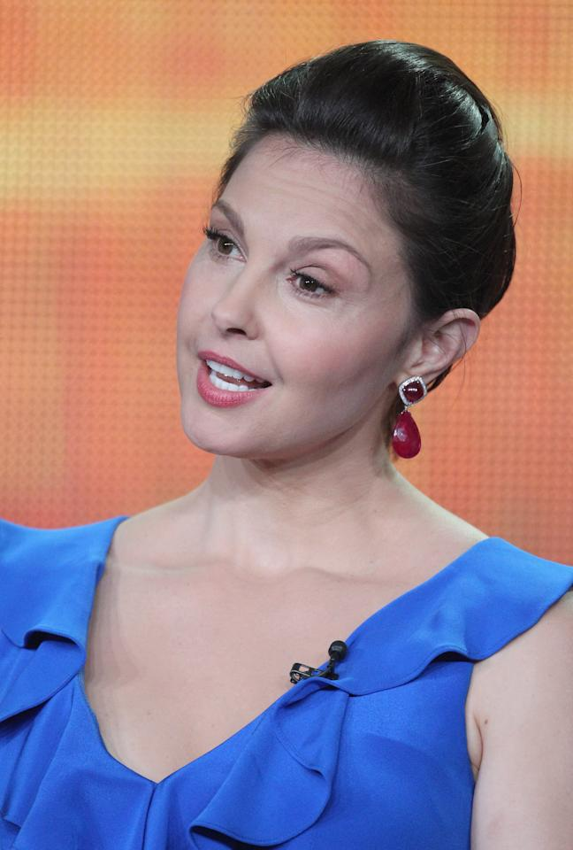 PASADENA, CA - JANUARY 10:  Actress Ashley Judd speaks during the 'Missing' panel during the ABC portion of the 2012 Winter TCA Tour held at The Langham Huntington Hotel and Spa on January 10, 2012 in Pasadena, California.  (Photo by Frederick M. Brown/Getty Images)