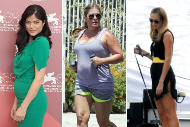 Selma Blairs Mama-Bauch, Nicole Eggerts Rettungsringe, Stacy Keiblers Blähbauch (Gettyimages/Splash/ddp)