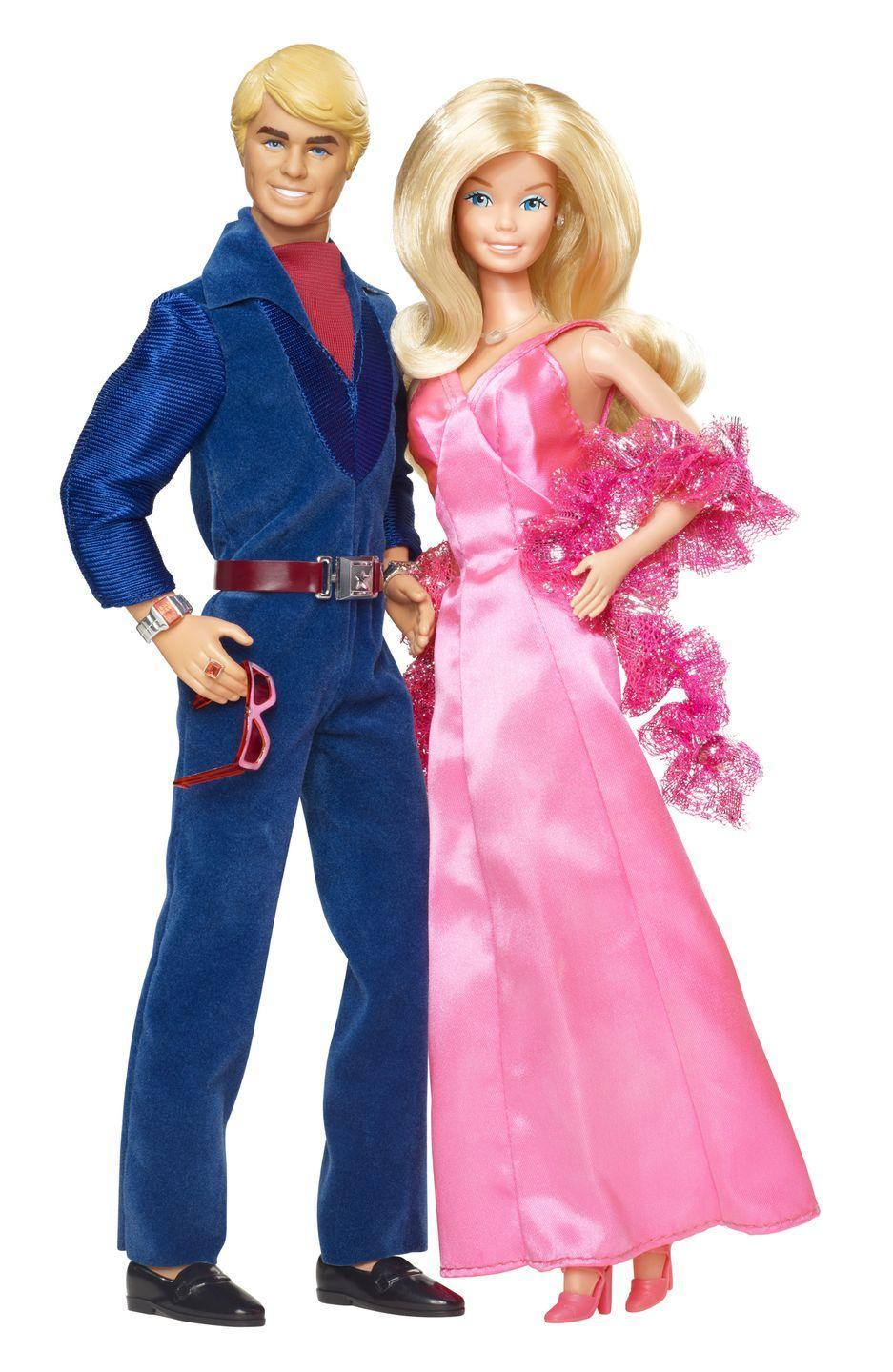 "<p>1977's Superstar Barbie gets a partner in 1978's velvet-and-satin clad Ken. </p><p><a href=""http://www.goodhousekeeping.com/home/a26666/70s-themed-throwback-home/"" rel=""nofollow noopener"" target=""_blank"" data-ylk=""slk:Tour a very '70s home »"" class=""link rapid-noclick-resp""><em>Tour a very '70s home »</em></a></p>"