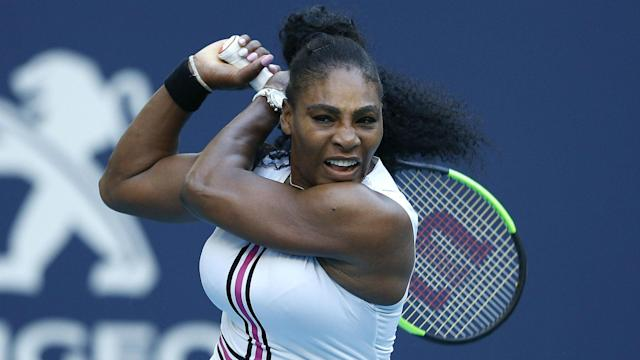 A left knee injury has forced Serena Williams to withdraw from the Miami Open prior to her third-round match with Wang Qiang.