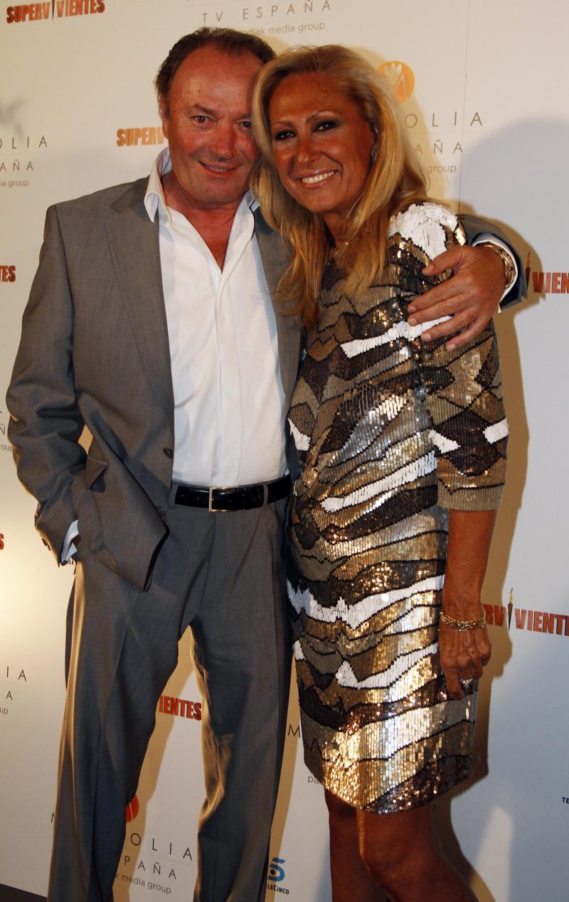 MADRID, SPAIN - JULY 30: Amador Mohedano (L) and Rosa Benito (R) attend 'Supervivientes 2011' End Tv Programme Party on July 30, 2011 in Madrid, Spain. (Photo by Europa Press/Europa Press via Getty Images)