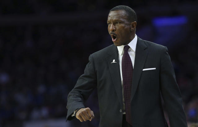 Dwane Casey has led the Raptors to the best record in the East. (AP)
