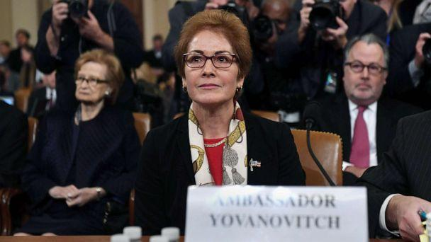 PHOTO: Former U.S. Ambassador to the Ukraine Marie Yovanovitch arrives to testify during the second public hearings as part of the impeachment inquiry into President Donald Trump, on Capitol Hill on Nov. 15, 2019 in Washington D.C. (Saul Loeb/AFP via Getty Images)