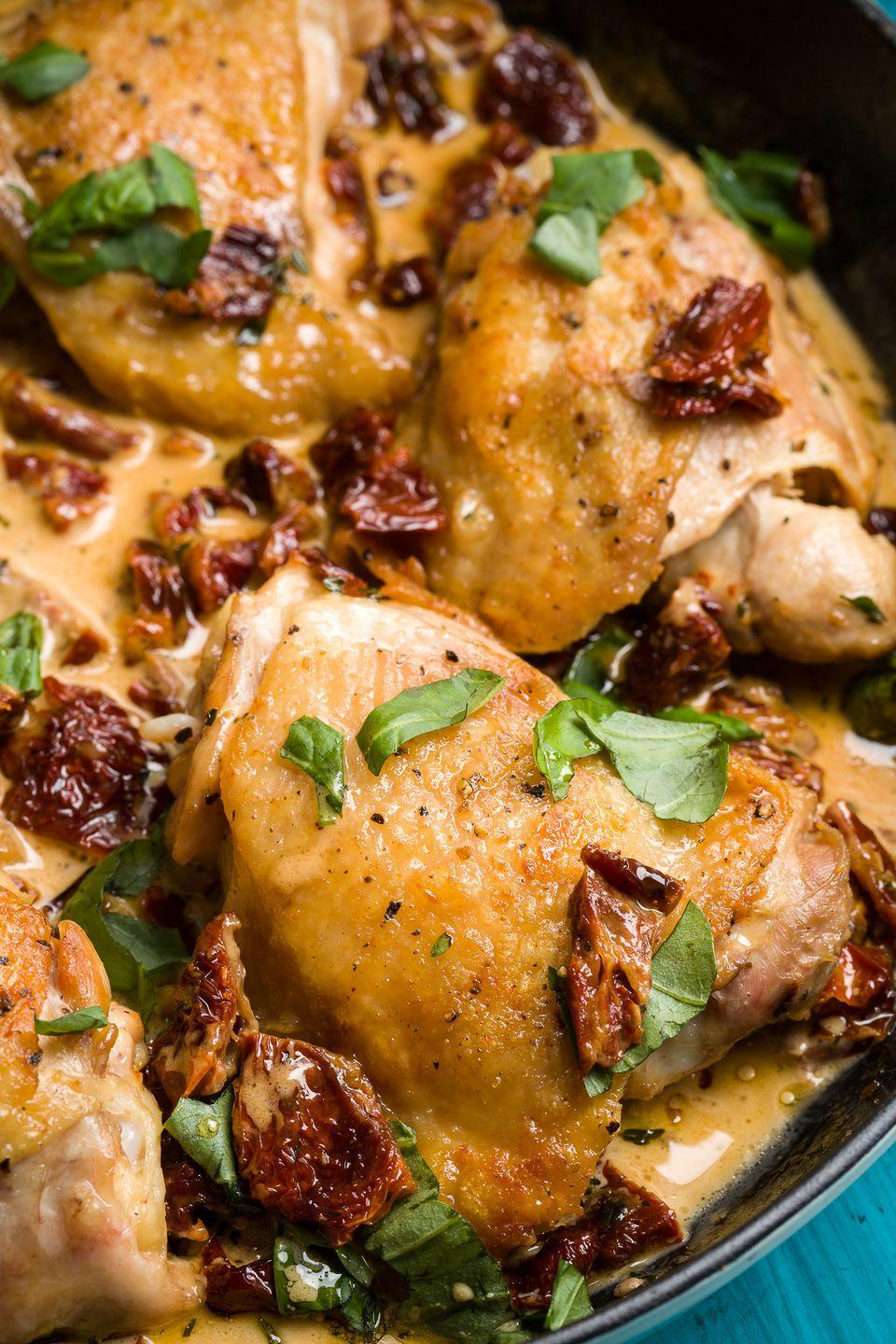 "<p>Proof a killer cream sauce is the way to the heart.</p><p>Get the recipe from <a href=""https://www.delish.com/cooking/recipe-ideas/recipes/a46330/skillet-sicilian-chicken-recipe/"" rel=""nofollow noopener"" target=""_blank"" data-ylk=""slk:Delish"" class=""link rapid-noclick-resp"">Delish</a>.</p>"